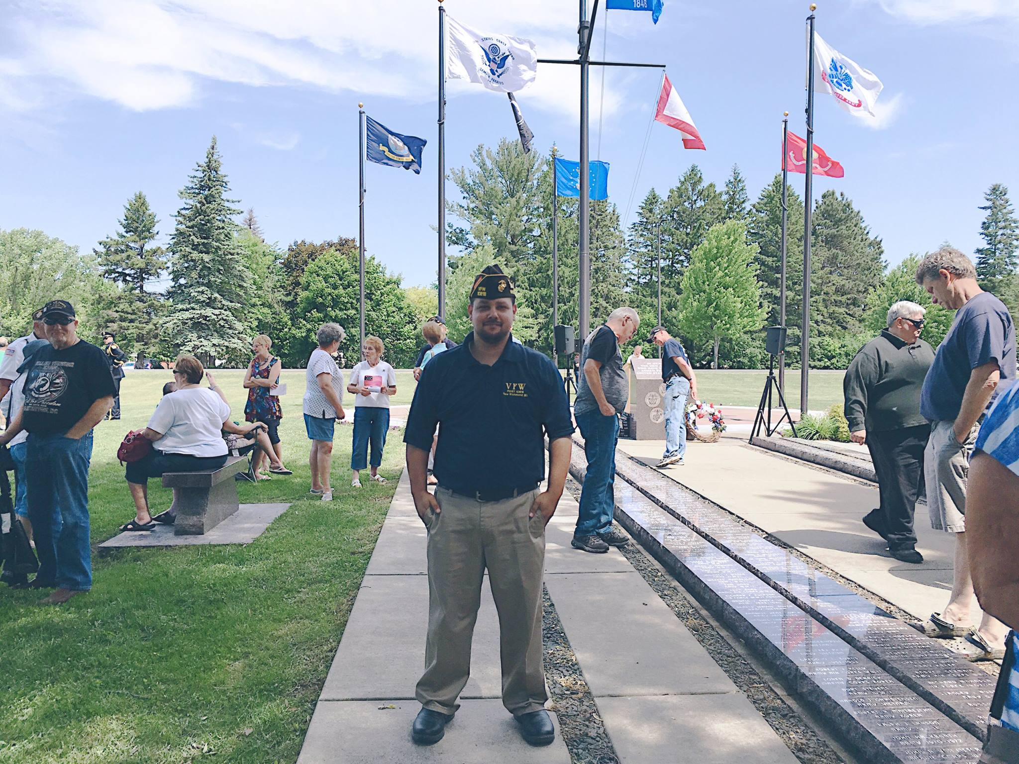 Ron Ramos at Memorial Day Event in New Richmond, WI
