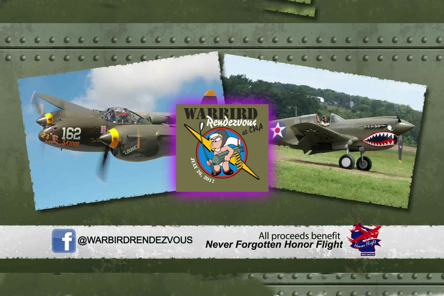 Promoting Warbirds Rendevous at CWA